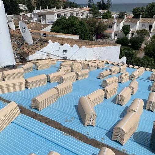 Manutenção de coberturas e telhados no Algarve