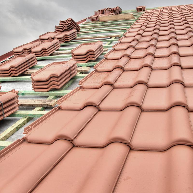 Construção de telhados de cerâmica Lagoa